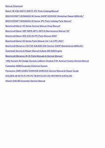 Beechcraft Baron B55 E55 58 Ipc Parts Manual By