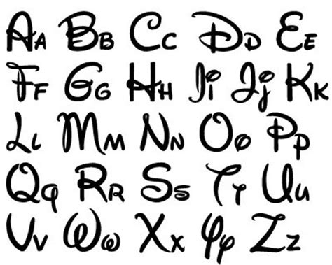 Disney Font Design Files For Use With Your Silhouette