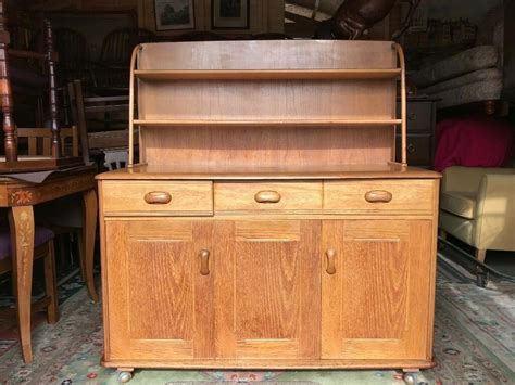 Ercol Style Dresser Wall Unit Sideboard Light Wood G Plan