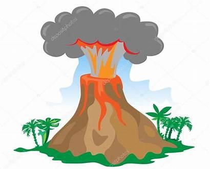 Volcano Eruption Exploding Cartoon Clipart Erupting Volcanic