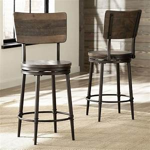 Jennings Wood Swivel Counter Height Stool In Distressed