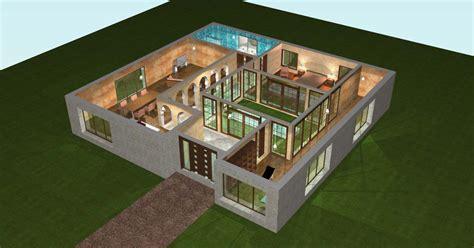 plan maison plain pied 3 chambres gratuit plan 3d maison plain pied