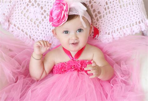 Ciri Hamil Gorgeous Beautiful Hot Pink Flower Tutu Dress For Baby Girl