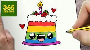 Dessin Gateau Anniversaire : comment dessiner tarte kawaii tape par tape dessins ~ Melissatoandfro.com Idées de Décoration