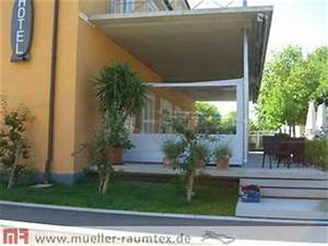 windschutz mit sonnensegel garten balkon terrasse With französischer balkon mit garten terrasse überdachen