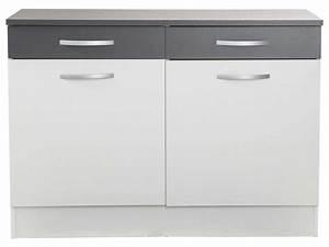 meuble bas de cuisine 60 cm uteyo With meuble bas de cuisine 60 cm 1 meuble bas 80 cm 2 portes 2 tiroirs spoon coloris blanc