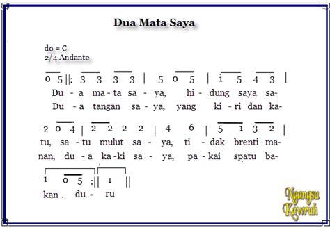 soleram not angka not angka lagu anak indonesia media belajar