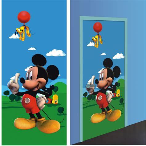 mickey d 233 coration murale poster de porte papier