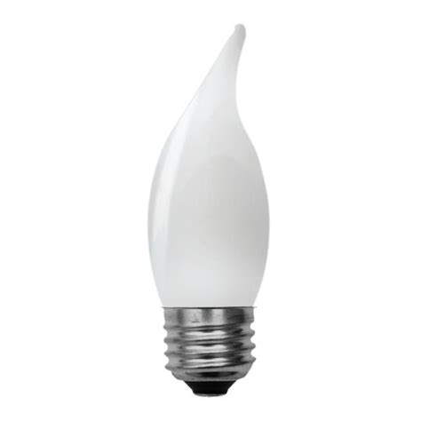 soft white led  replacement frosted decorative bent tip medium base cam light bulb  pack