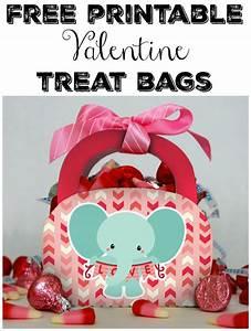 Free Printable Valentine Treat Bags - Seeing Dandy
