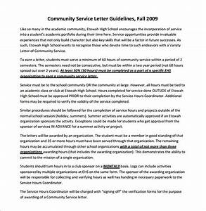 Letter Of Recommendation From Landlord Sample Community Service Letter 7 Download Free