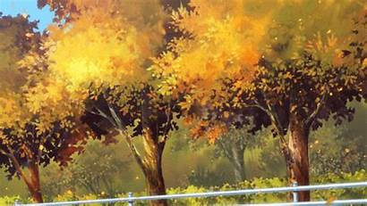 Fall Autumn Anime Quotes Aesthetic Gifs Leaves