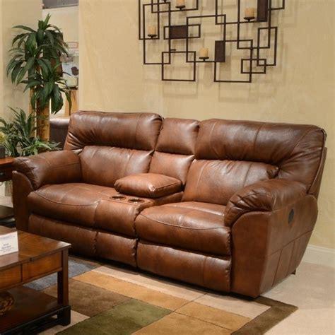 catnapper reclining sofa and loveseat catnapper nolan leather reclining loveseat in chestnut