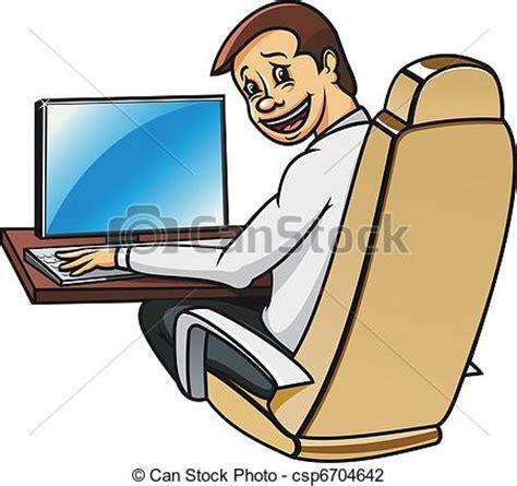bureau line office illustration vecteur de directeur bureau