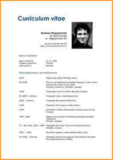 6 curriculum vitae format for application basic