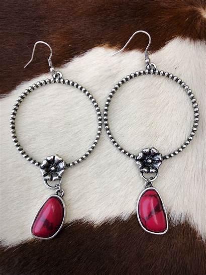 Earrings Sheila Charm Western Stone Natural Jewelry