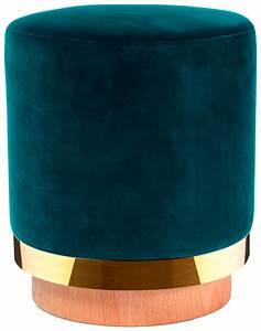 Tissu Velours Bleu Canard : tabouret stool de red edition tissu velours bleu canard ~ Teatrodelosmanantiales.com Idées de Décoration