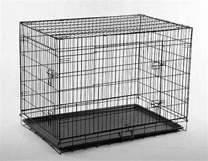 new 42quot 3 doors wire folding dog crate cage kennel w metal With 2 x 3 dog crate