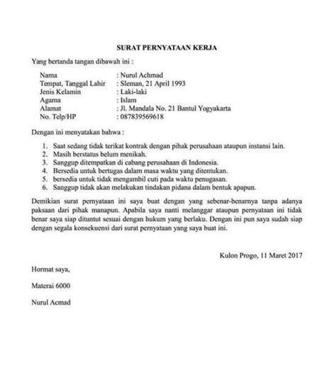contoh surat pernyataan  berbagai keperluan