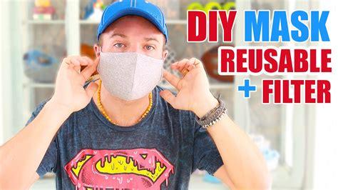diy reusable face mask  filter cheap easy