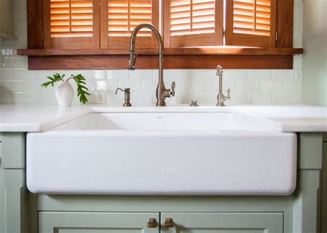 how to install a farmhouse sink in existing cabinets installing an apron front sink how tos diy
