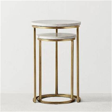 brass and marble nesting tables glass top brass nesting side table 7950