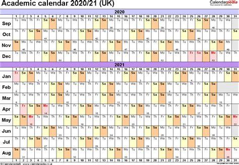 academic calendars printable templates