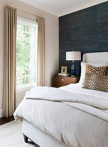 Transitional, Bedroom, With, Beautiful, Upholstered, Bed, Topped
