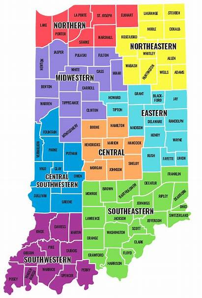 District Map Indiana Counties State Northern Central