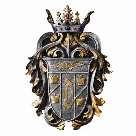 count draculas coat  arms wall plaque cl design