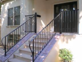 contemporary terrace design with wrought iron porch