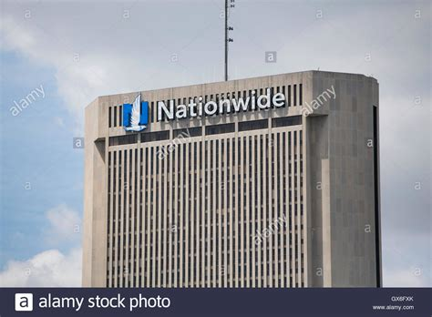 A logo sign outside of the headquarters of the Nationwide ...