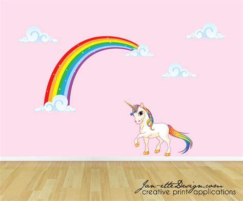 Rainbow Unicorn Wall Decal Unicorn Wall Sticker Rainbow Wall
