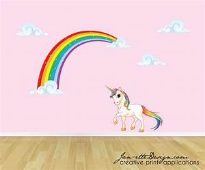rainbow unicorn wall decal unicorn wall sticker rainbow wall With unicorn wall decal
