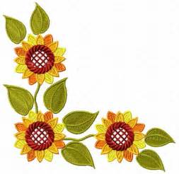 Sunflower Corner Border Cliparts