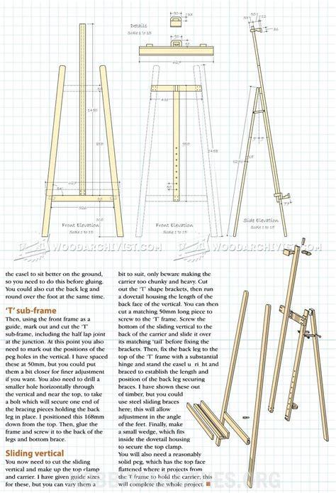 artist easel plans woodworking plans studio