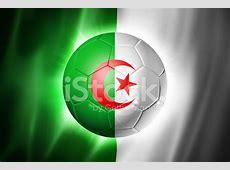 Ballon DE Football Soccer Avec Le Drapeau DE L'algérie
