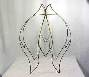 lamp shade wire frame for floor lamps huge old tulip victorian With floor lamp shade frames