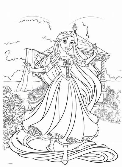 Coloring Pages Disney Tangled Rapunzel Princess Blank