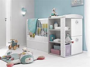 Lit Avec Table à Langer : lit bebe avec rangement maison design ~ Teatrodelosmanantiales.com Idées de Décoration