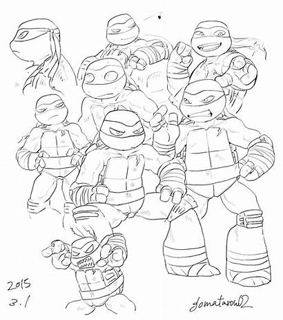 Tmnt Ninja Turtles Mutant Teenage Line Drawing