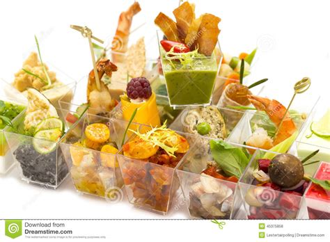 canapes stock photo image of glass food serve