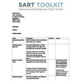 sample sart meeting minutes national sexual violence