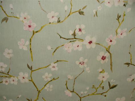prestigious textile emi duck egg cherry blossom floral
