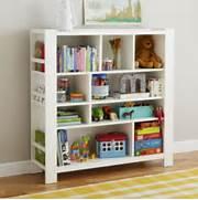 Furniture Of America Unique Wood Bookcase Display Cabinet  White  Bookcase