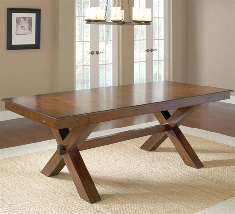 rustic dining room tables with leaves diy vintage solid wood trestle dining table for rustic 9264