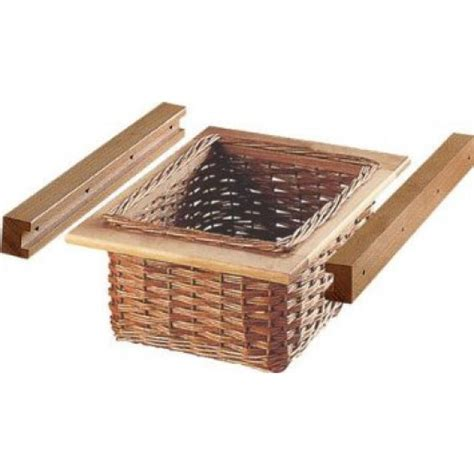Fitmykitchen  Kitchen Pull Out Wicker Basket Set For