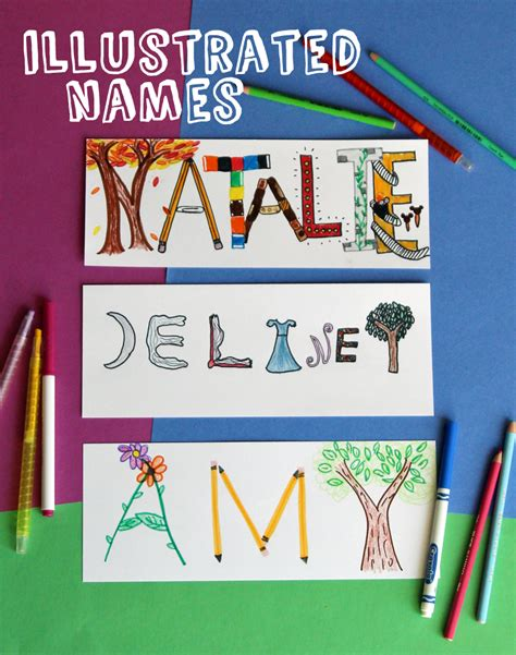 drawing  kids illustrated names   takes