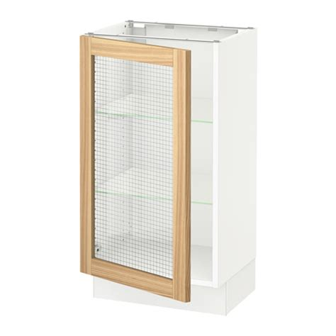 kitchen base cabinets with glass doors sektion base cabinet with glass door white torhamn
