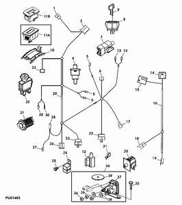 Manual Starting Brakes Routing Deere Parts Mower Harness